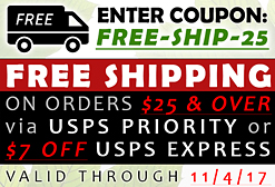 ENTER COUPON: FREE-SHIP-25