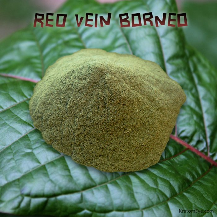 Red Vein Borneo, Relaxing Kratom Leaf