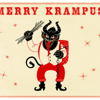 krampus, red, white, green vein holiday/winter kratom blend