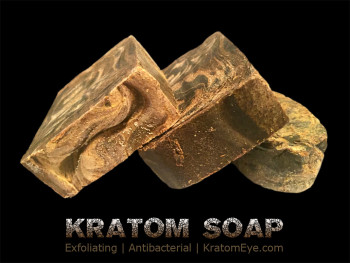 kratom soap exfoliating mitragyna speciosa antibacterial body wash