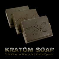 kratom soap exfoliating mitragyna speciosa antibacterial body scrub