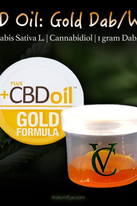 CBD Oil Gold: 1 Gram Dabbing Wax - Cannabis Sativa L - Cannabidiol