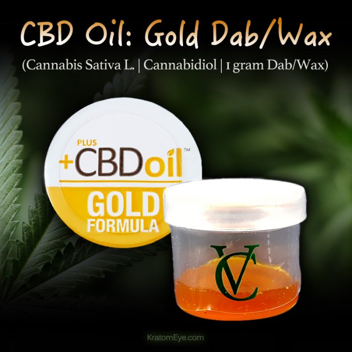 CBD Oil Gold: 1 Gram Dabbing Wax - Cannabis Sativa L - Cannabidiol