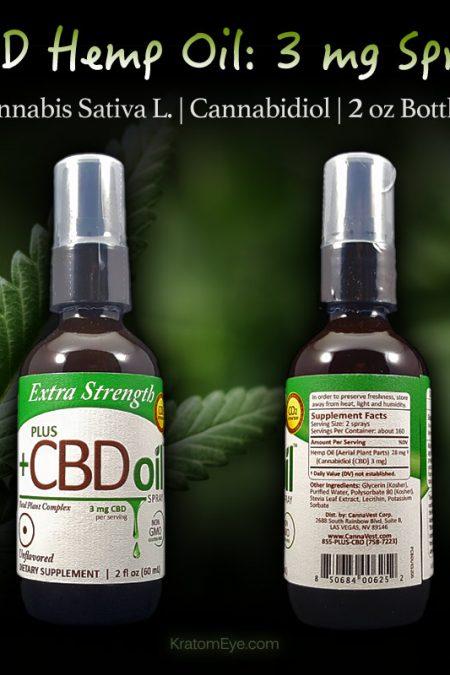 3mg CBD Spray - Cannabis Sativa L - Cannabidiol - 2 oz