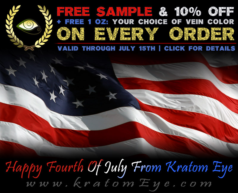 4th of July 2018 Promotion: Free Sample + Free 1 oz + 10% OFF on Every Order!!!