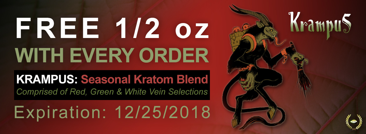 Krampus: Seasonal Kratom Blend of Red, Green & White Veins