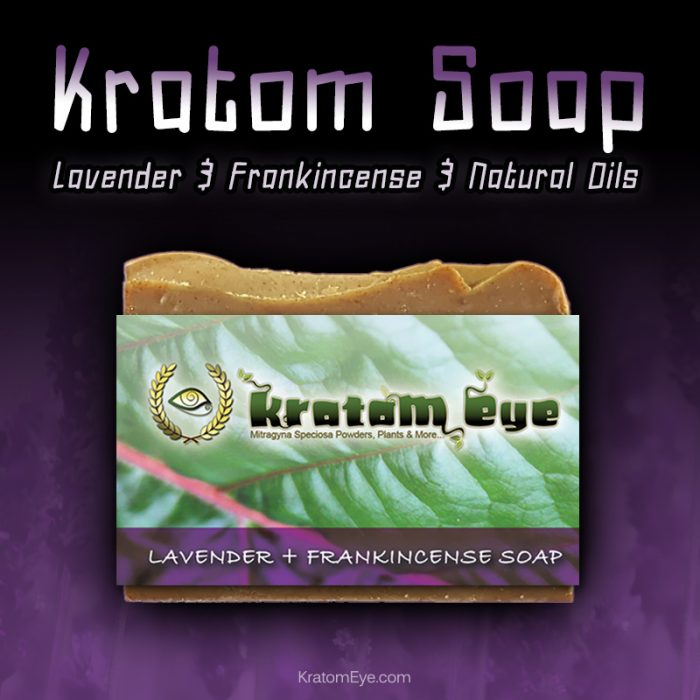 Lavender Frankincense Exfoliating Moisturizing Natural Kratom Soap