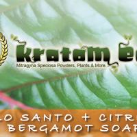 Palo Santo Citrus Bergamot Super Exfoliating Moisturizing Natural Kratom Soap with Palo Santo, Citrus, Bergamot Essences