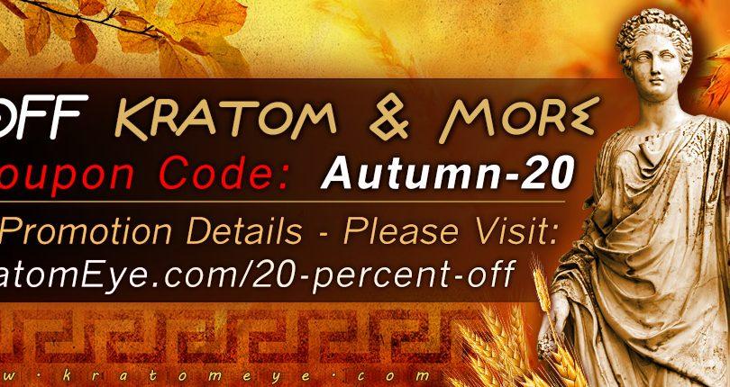 20% OFF Kratom Coupon Code: Autumn-20