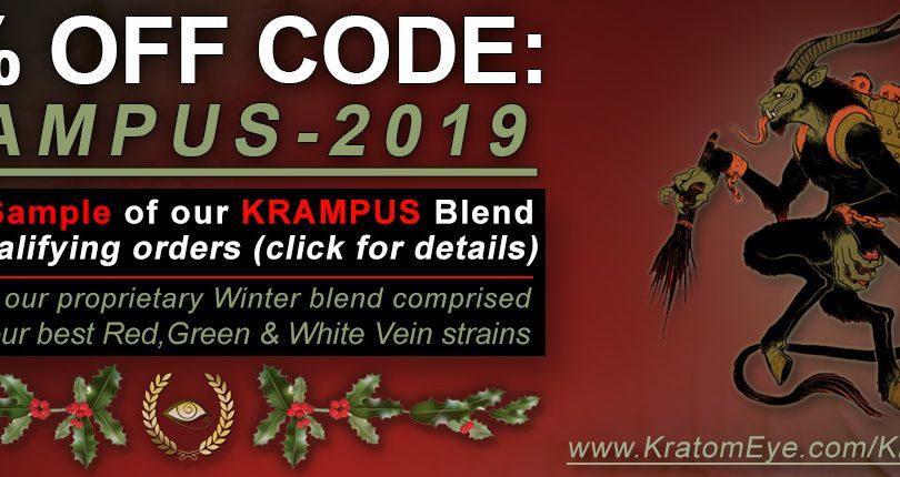 20% OFF Kratom Coupon (Click for Details) & Free Krampus Blend for Qualifying Orders