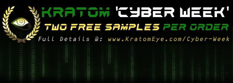 Cyber Monday All Week - Free Kratom & Herb Samples per Qualifying Orders