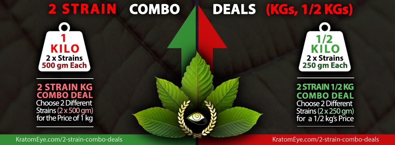2 Strain Combo Deals: Split Discounted Kilos or 1/2 Kilos