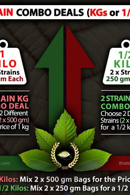 2 Kratom Strain Combo Deals - Split Kilos, KG, Kilograms