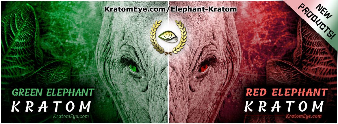 New Strains: Elephant Kratom - Red, Green & White Veins